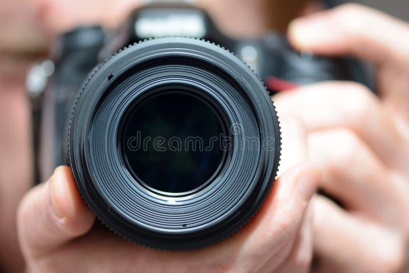 DSLR摄象机镜头 库存照片