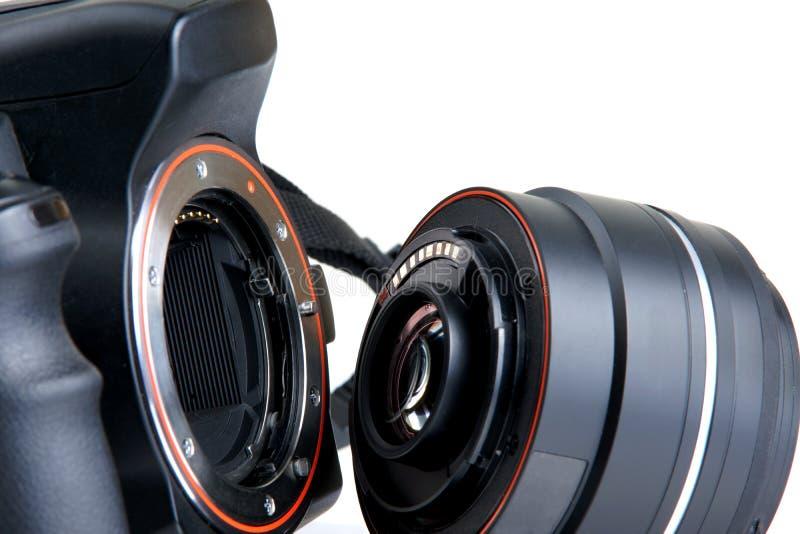 DSLR照相机 免版税库存照片