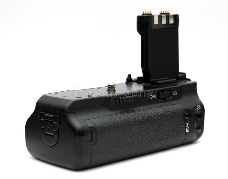 DSLR camera battery grip stock photography