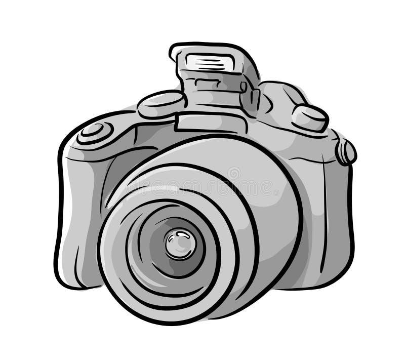 Vector Drawing Lines Quiz : Dslr camera stock vector image
