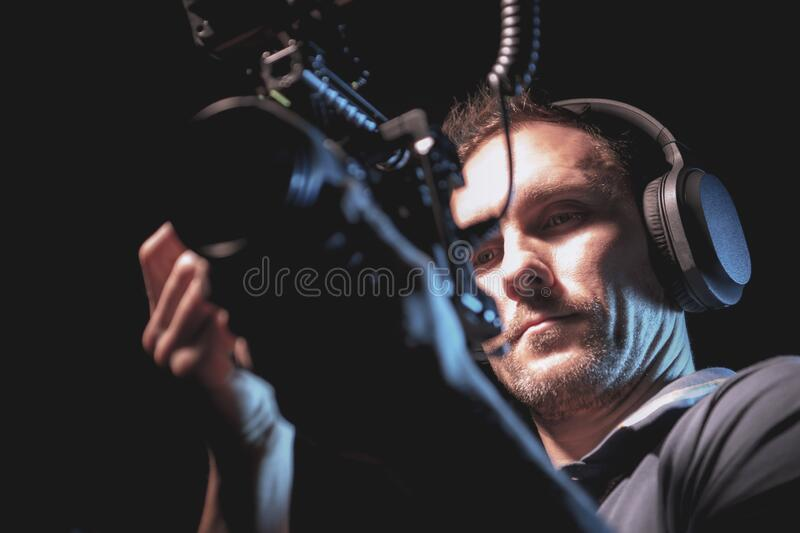 DSLR Camera Operator royalty free stock image