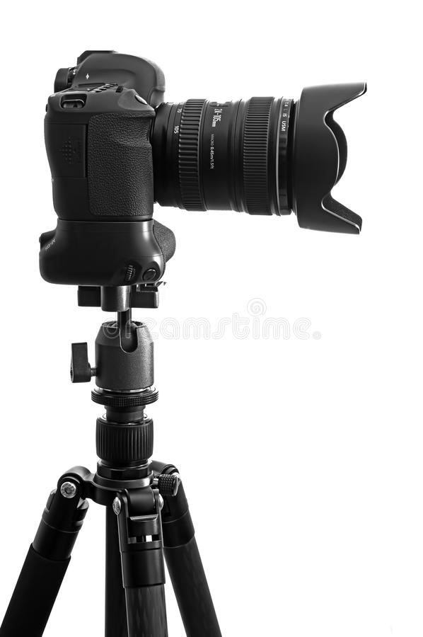 Download Dslr camera on tripod stock image. Image of carbon, photography - 32643055