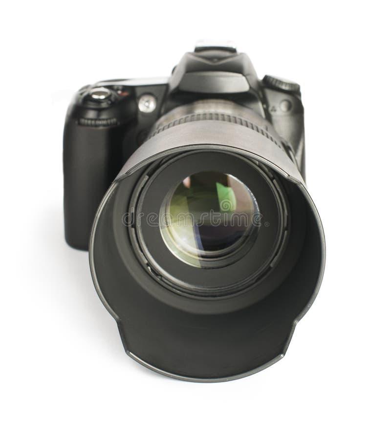 DSLR camera white royalty free stock image