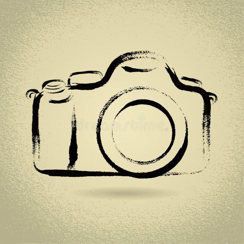 Free DSLR Camera With Brushwork Stock Image - 28229231