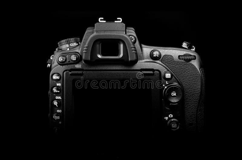 DSLR-de rug van de fotocamera royalty-vrije stock foto's