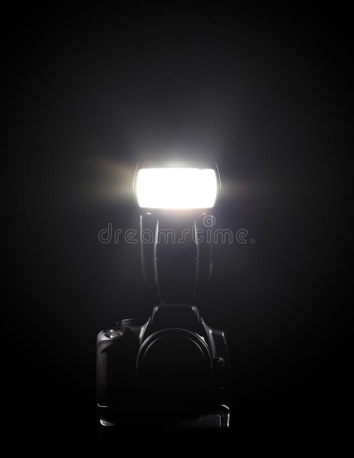 Download DSLR and flash stock image. Image of lens, shoe, firing - 17677903