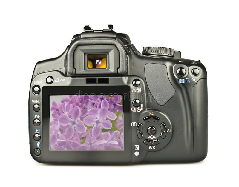 DSLR with image stock photos