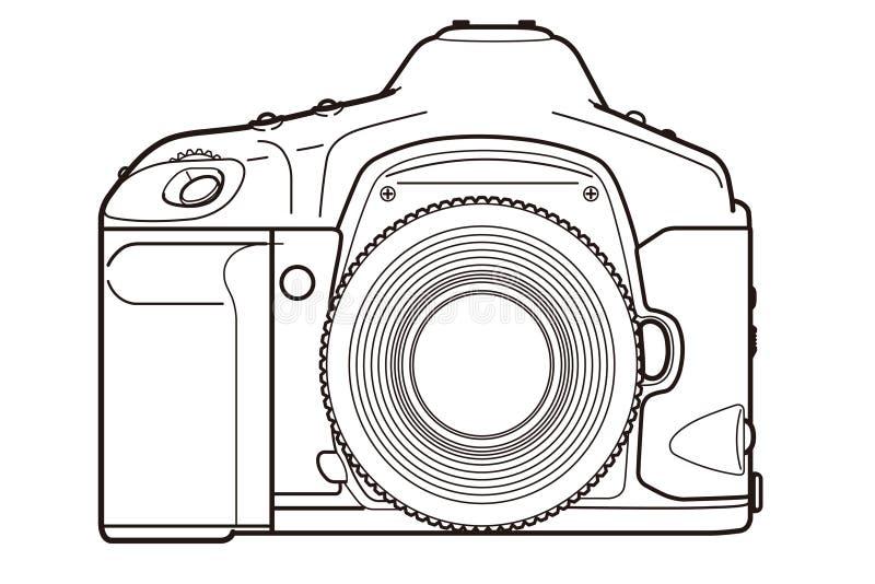 DSLR kamera ilustracji