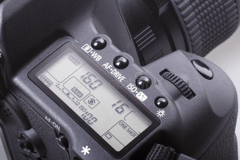 DSLR Kameranahaufnahme. lizenzfreie stockbilder