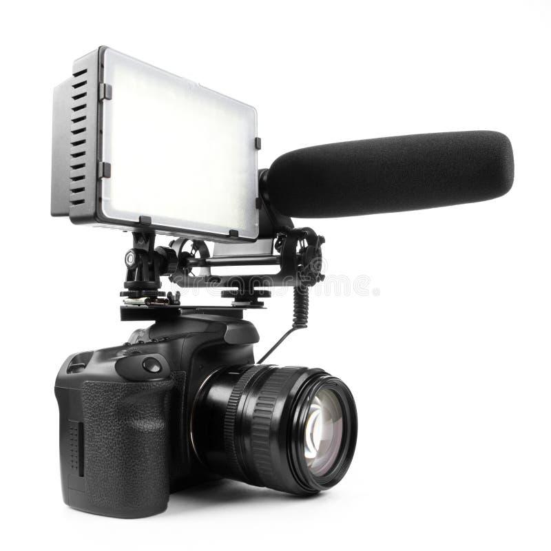 DSLR video camera stock image