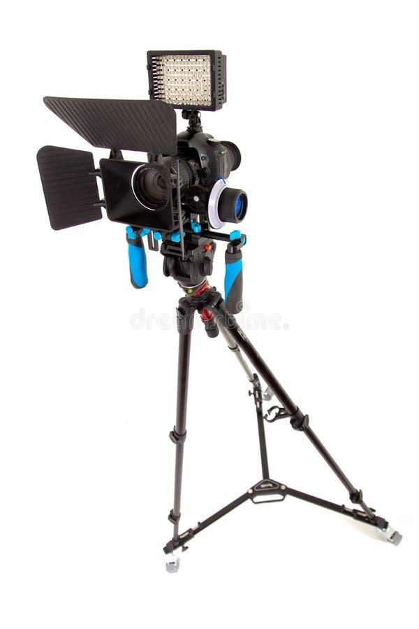DSLR wideo takielunku logowie usuwający zdjęcie stock