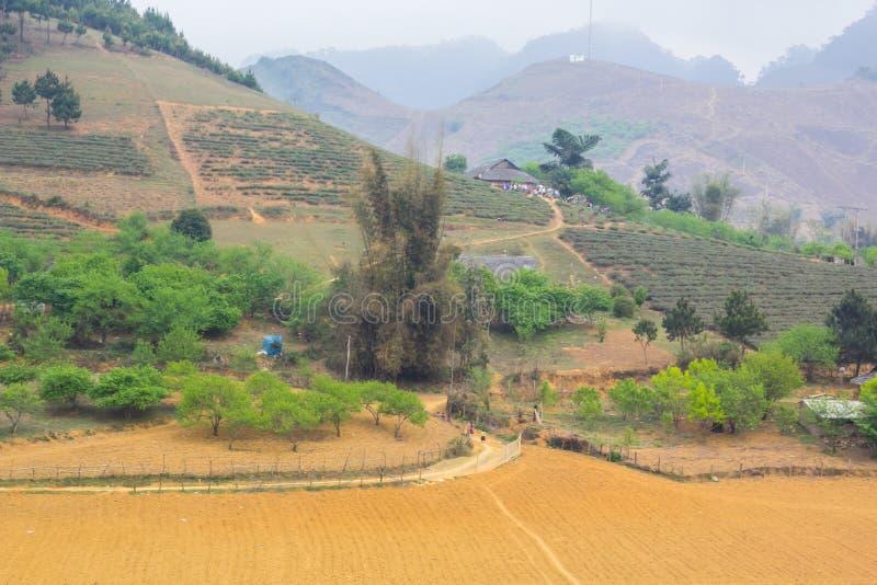 DT104 route, Moc Chau, Son La images stock