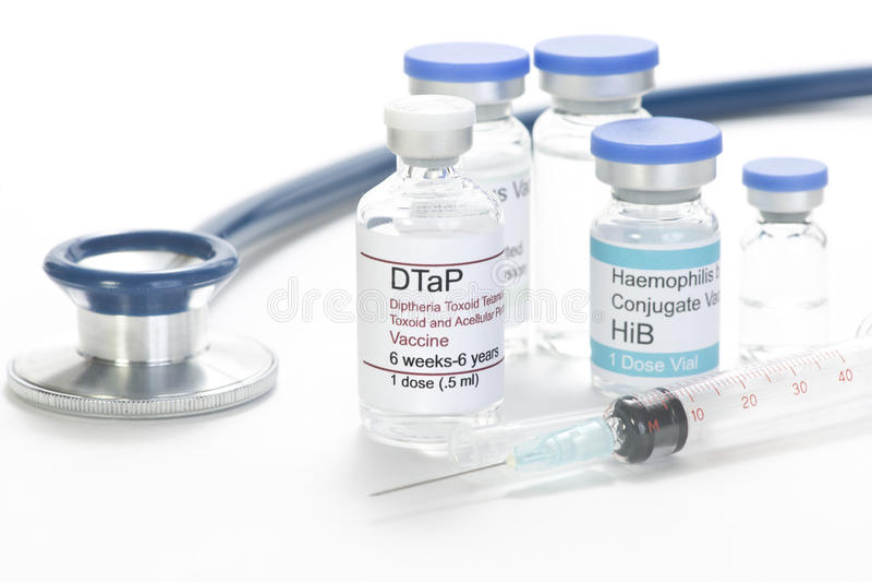 DTaP疫苗 免版税库存图片