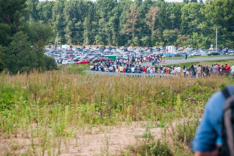 DTM (Deutsche Tourenwagen Meisterschaft) MRW (Moskwa młynówka Moskwa), Rosja, 2013 08 04 obrazy stock