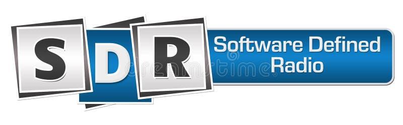 DTS - Le logiciel a défini Grey Squares Bar bleu par radio illustration libre de droits