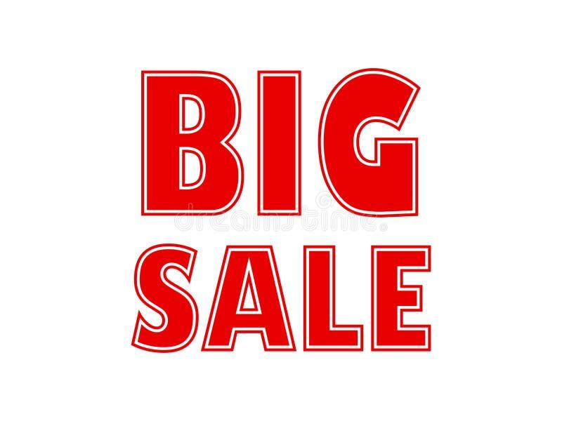 Duże sprzedaży poczty dla twój sprzedaży i promocji royalty ilustracja
