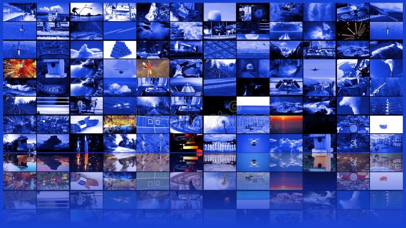 Dużej multimedialnej wideo ściany sieci widescreen lać się obraz stock