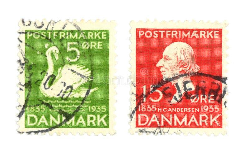 duńscy znaczki obrazy stock