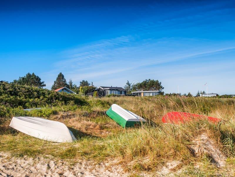 Duńska Fjellerup plaża w Djurs Dani obrazy royalty free