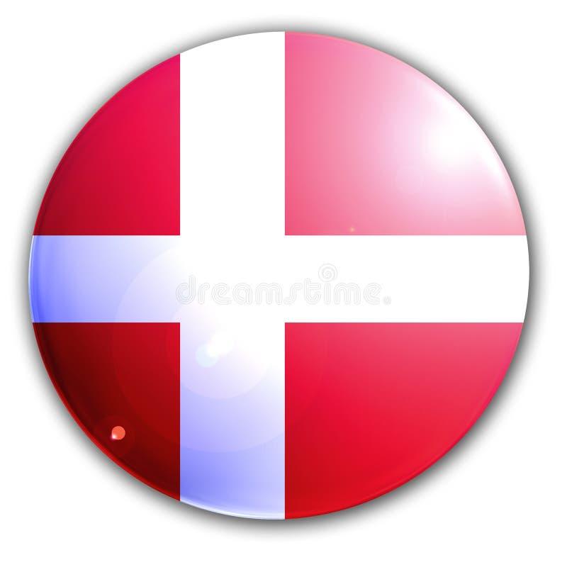 Duńska flaga ilustracja wektor