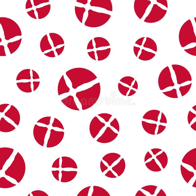 Duński chorągwiany bezszwowy wzór ilustracji