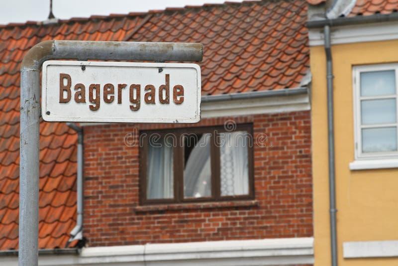 Duński drogowy znak zdjęcia royalty free