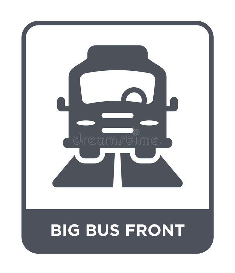 duża autobusu przodu ikona w modnym projekta stylu duża autobusu przodu ikona odizolowywająca na białym tle dużego autobusu przod ilustracji