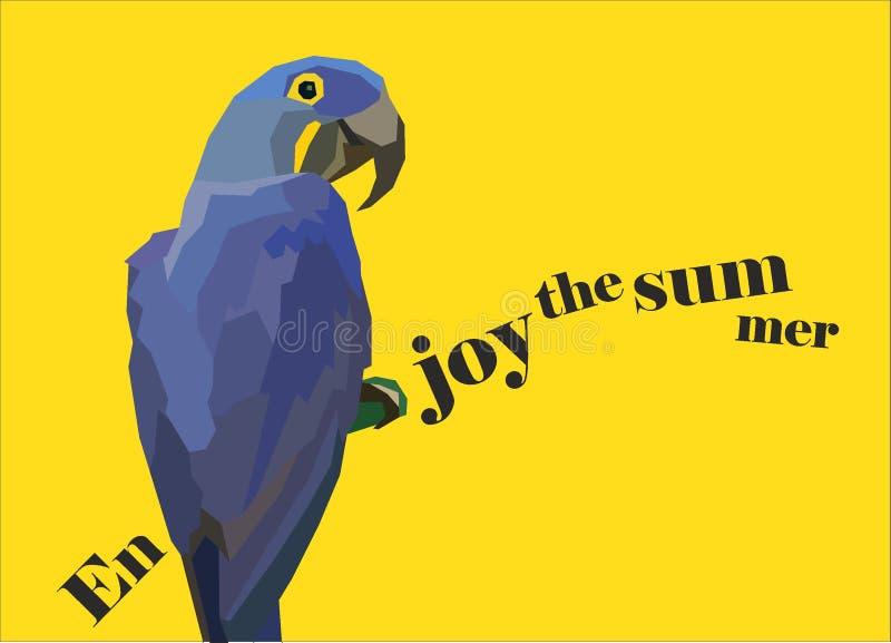 Duża błękitna papuga royalty ilustracja