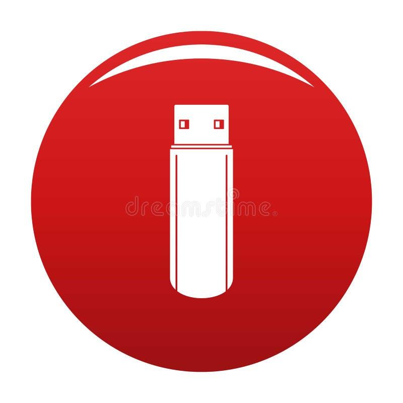Duża błysk przejażdżki ikony wektoru czerwień ilustracja wektor