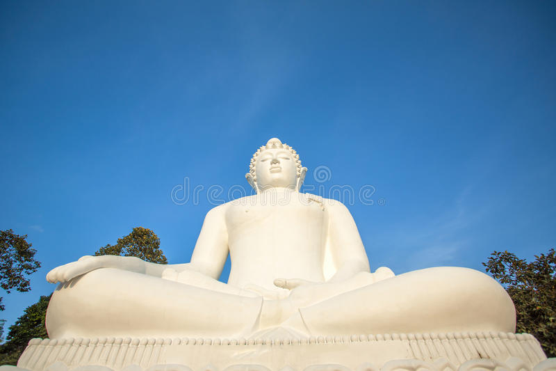 Duża biała Buddha statua fotografia royalty free