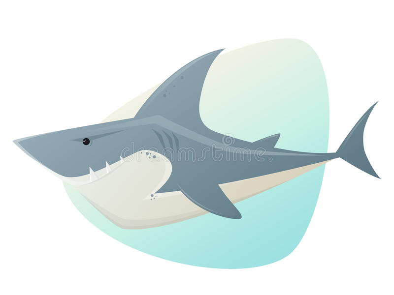Duża biały rekin ilustracja royalty ilustracja
