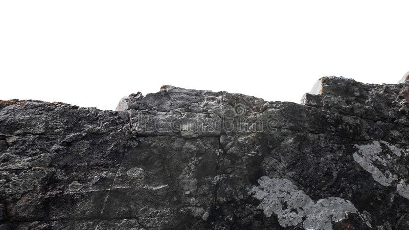 Duża bryła kamienna izolowana białym tłem,Naturalny obiekt mineralny obrazy stock