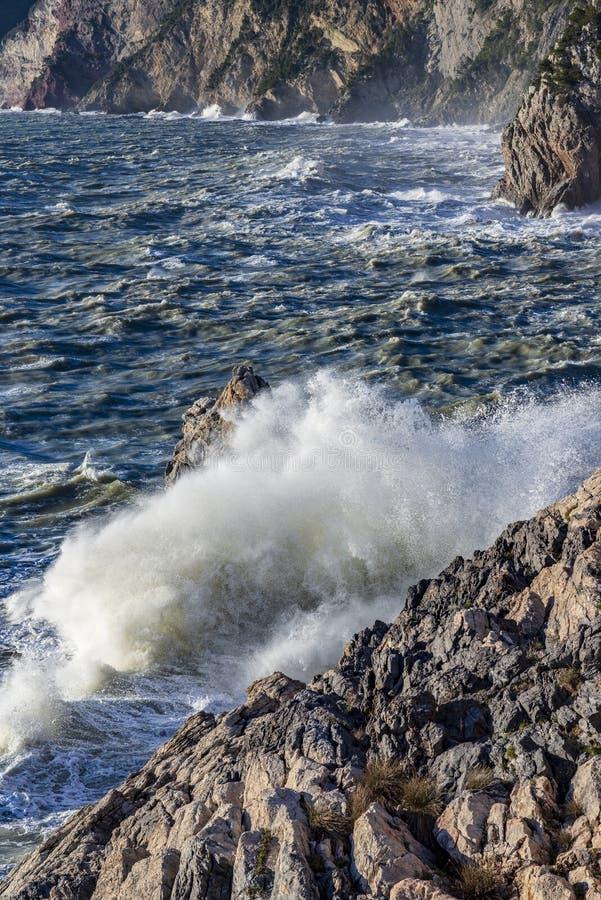 Duża burza w Portovenere zdjęcie royalty free