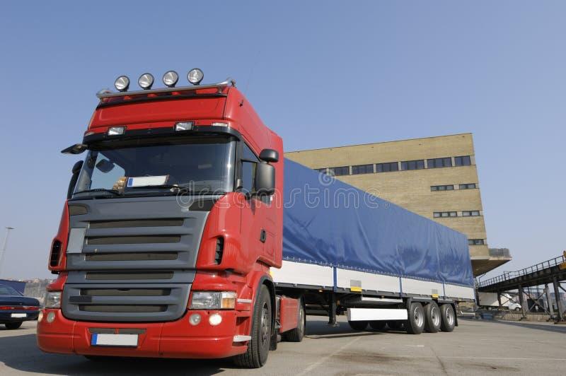 duża ciężarówka obszar handlowe zdjęcie royalty free