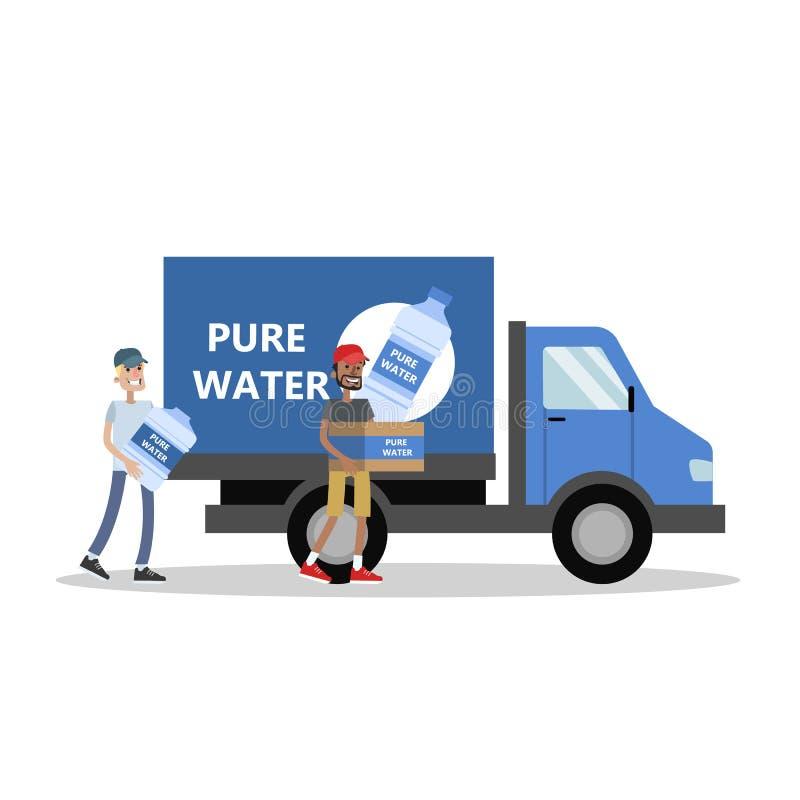 Duża ciężarówka z wodą ilustracja wektor
