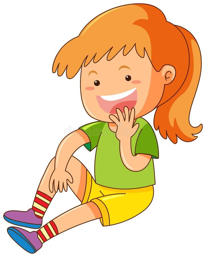 duża dziewczynka uśmiech ilustracja wektor