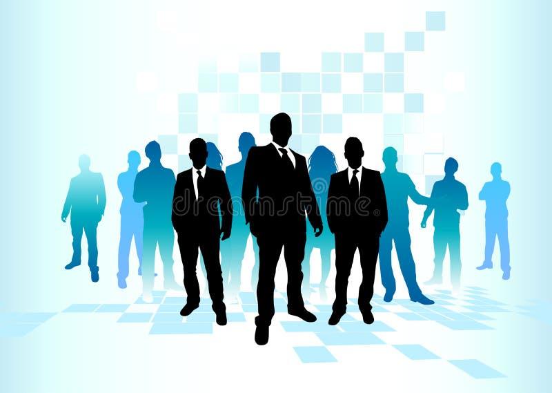 duża ekipa jednostek gospodarczych royalty ilustracja