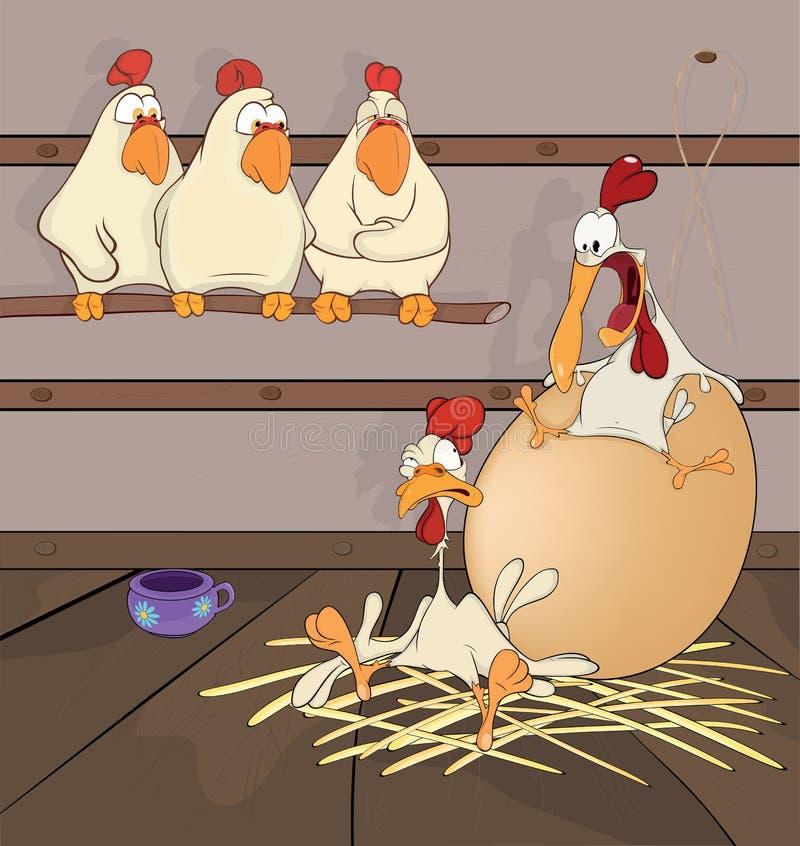 Duża jajeczna kreskówka ilustracji
