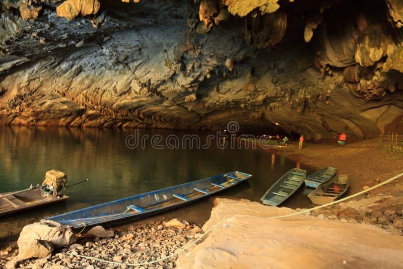 Duża jama w Laos, Konglor jama obraz royalty free
