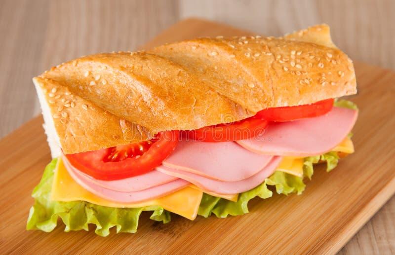 Duża kanapka zdjęcie stock