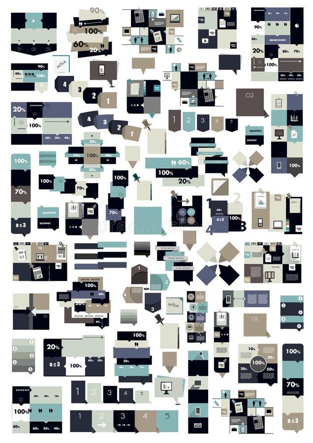 Duża kolekcja collummn sztandary, licząca szablon ilustracji