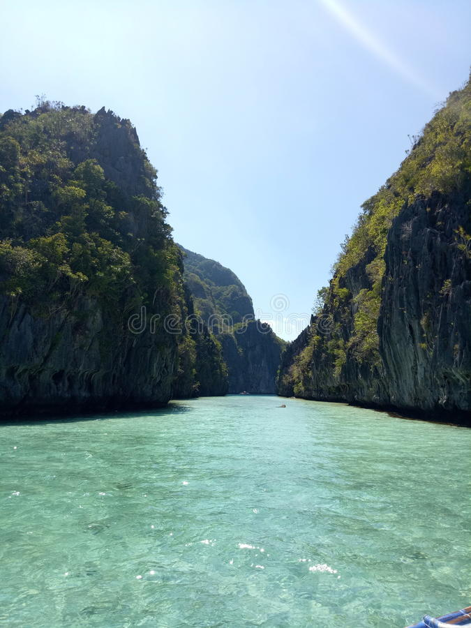 Duża laguna w El Nido Palawan zdjęcia royalty free