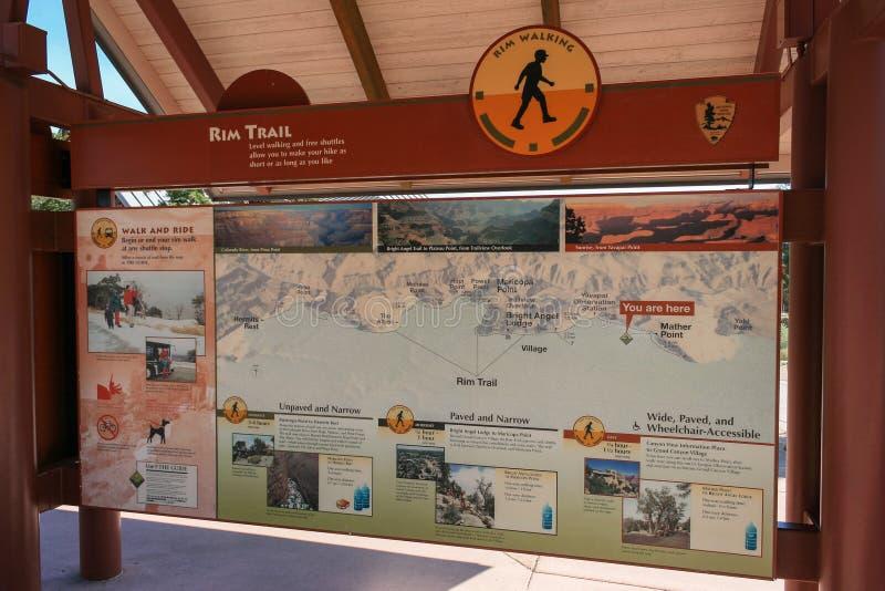 Duża mapa Uroczystego jaru park narodowy obrazy stock