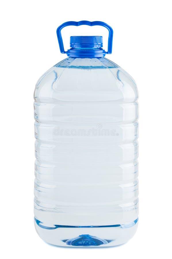 Duża plastikowa butelka świeża woda fotografia stock