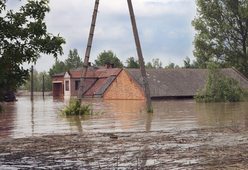 Duża powódź obrazy royalty free