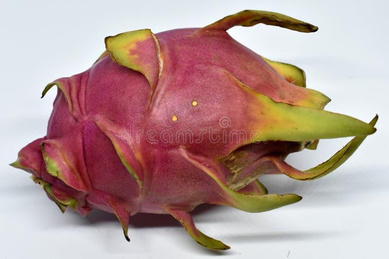 Duża różowa smok owoc na białym tle obraz stock