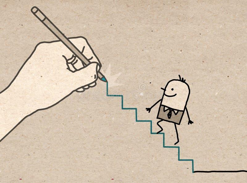 Duża ręka - iść up ilustracji