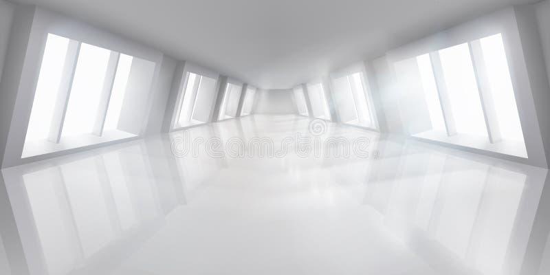 Duża sala z okno Opróżniam zaświecał wnętrze r?wnie? zwr?ci? corel ilustracji wektora ilustracja wektor