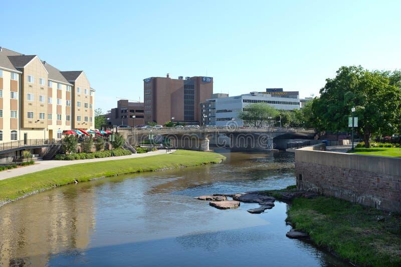 Duża Sioux rzeka Riverwalk fotografia royalty free