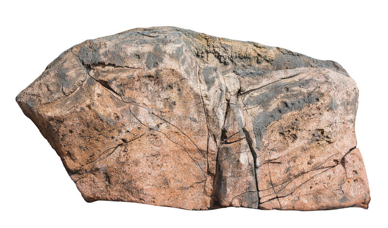 Duża skała odizolowywająca na białym tle zdjęcia royalty free